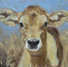 Jersey calf painting by Denise Rich