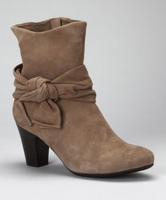 Take a look at this Taupe Suede Janubi Boot by VANELi on #zulily today!