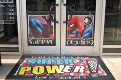The Summer Reading Program is just a few days away! This morning, these colorful graphics (by MACtac) were applied to our front entrance. We hope you will make reading YOUR super power this summer! Visit our website or call the library for details regarding the 2015 Summer Reading Program.