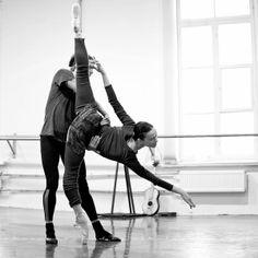 Olesya Novikova and Leonid Sarafanov rehearsing Don Quixote - Photographer Nikolay Krusser