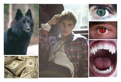 """""""My eyes,fangs and my dog-Jerry"""" by losing-my-mind-anons ❤ liked on Polyvore"""