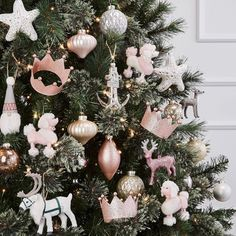 Glass Assorted Christmas Ornament Set Blush Gold And Silver - Wondershop™ : Target Rose Gold Christmas Tree, Rose Gold Christmas Decorations, Farmhouse Christmas Ornaments, Christmas Ornament Sets, Christmas Tree Themes, Elegant Christmas Trees, Christmas Ad, Reindeer Christmas, Holiday Decor
