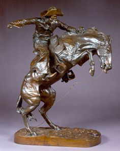 cast no. ? Frederic Remington (1861-1909)  Broncho Buster  Bronze  23 inches