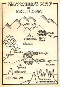 Mayweed's Map of Moledom, from William Horwood's 'Duncton Found' (1989).