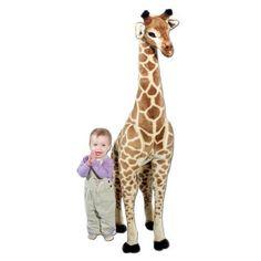 New Melissa Doug Giant Giraffe Plush for Kids Toy Large Soft Stuffed Animal Giant Giraffe, Giraffe Toy, Stuffed Giraffe, Stuffed Animals, Stuffed Toys, Giant Plush, Kids Running, Melissa & Doug, Gentle Giant