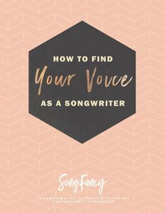 Free resource! Songwriting tips | how to find your voice as a songwriter worksheet free resource at http://SongFancy.com