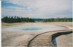 Yellowstone, 2000. My husband and I made this trip before the kids were born. I hope to take them there too!