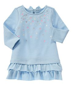 Cozy Fairy Tale Ruffle Trim dress 2T.Can be worn with pink leggings and a white puffer vest.