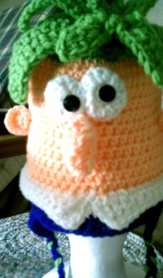 Crochet pattern character hat sizes toddler by snappytotscreations