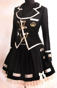 Infanta Edward Boarding School Jacket Skirt Set $103.99 - Lolita ...