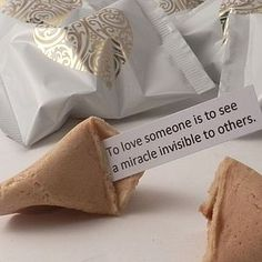 Wedding Fortune Cookies: Unusual Wedding Favours - cakes & treats