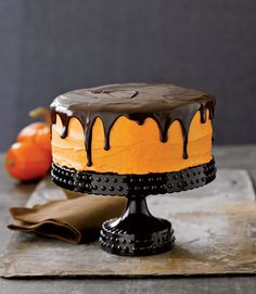 pretty halloween cake...i saw this in one of my mom's really old magazines and am planning on attempting for James' party!  Kinda worried bout how it'll turn out though.