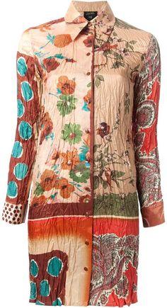 Jean Paul Gaultier Vintage mixed print shirt dress