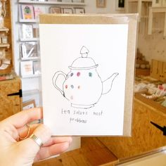 Happy Hump Day!  . . . #teasolvesmostproblems #teasolveseverything #teasolvesall #tea #teadrinker #teaaddict #tealover #handmadenottingham #justacard #pursuepretty #flashesofdelight #thehappynow #supportindependent #shoplocal #makersvillage #creatorslane #handmadeisbetter #giftshop #craftsposure #hiddennottm #humpday