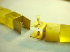 Philip Sajet - Amber necklace, 2002 - detail 2. Interesting clasp.