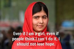 Malala Yousafzai, the Nobel Peace Prize winner who's changing the world. Quotes By Famous People, Famous Quotes, Japanese Love Quotes, Happy Quotes, Me Quotes, Positive Quotes, Qoutes, Malala Yousafzai Quotes, World Peace Day