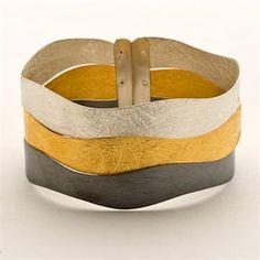Tri-color silver bracelet