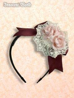 Lolibrary | Innocent World - Hair accessories - Roman Rose Head Bow