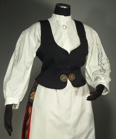 Folk Costume, Costumes, Swedish Design, Traditional Outfits, Finland, Folk Art, Blouse, Clothes, Tops