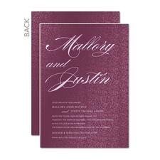 Enduring Romance Purple Wedding Invitations