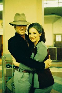 Robert Redford and Barbra Streisand on the set of The Way We Were, 1971.