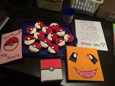 Pokemon themed Valentine's Day for my boyfriend! He loved it!