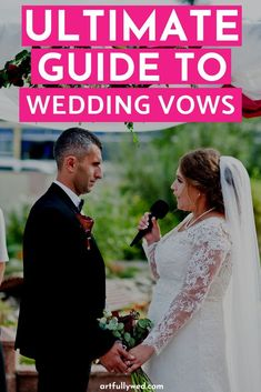 Wedding vows are the most important component to any wedding ceremony. Read this ultimate guide to wedding vows to get started on the what, how and why on your commitment to your soon to be spouse. Wedding Planning Guide, Wedding Planning Inspiration, Wedding Advice, Wedding Ideas, Rustic Wedding Reception, Chic Wedding, Wedding Styles, Wedding Ceremony, Wedding Gifts For Groom