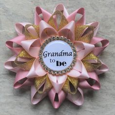 Pink and Gold Baby Shower Decorations, New Grandma Gift, Grandma to Be Pin, Mommy to Be Corsage, Baby Girl Shower, Pale Pink, Quartz, Gold by PetalPerceptions on Etsy https://www.etsy.com/listing/385345614/pink-and-gold-baby-shower-decorations
