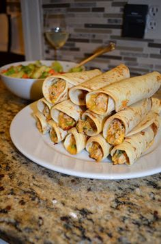 Baking and Eggs: Creamy Chicken Taquitos