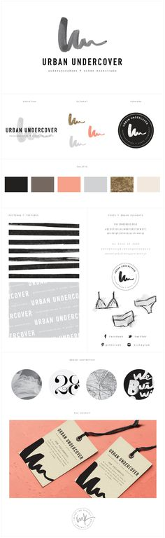 / Brand Launch: Urban Undercover / Salted Ink Design Co.