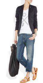 tshirt, blazer, jeans