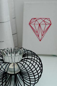 easy DIY diamond string art 9