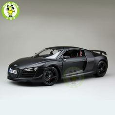 1:18 Scale Audi R8 Sports Racing Diecast Metal Car Model Maisto 36190 Matte black