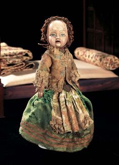 Unique French Wooden Court Doll,Possibly the Dauphin,Late 18th Century.  © Priscilla Jones