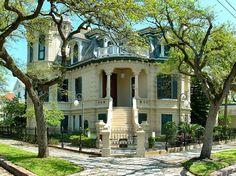 1890 Trube Castle Gavelston, TX #Victorian #Castle #Historic