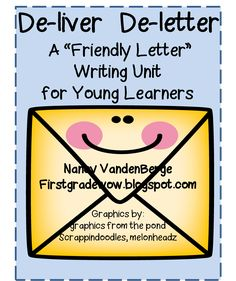 """Freebie: Friendly letters - includes """"parts of a letter"""" anchor chart/graphic. Click the link and scroll down the page to find it. Work On Writing, Writing Workshop, Writing Skills, Writing Ideas, First Grade Writing, Teaching First Grade, Teaching Letters, Teaching Writing, Writing Letters"""