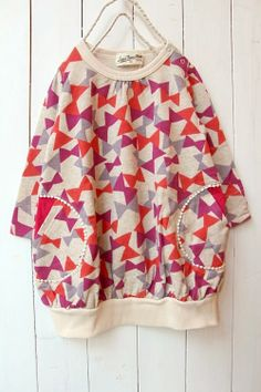 A comfy oversized top for my girls, so they can wear it with their endless array of leggings.