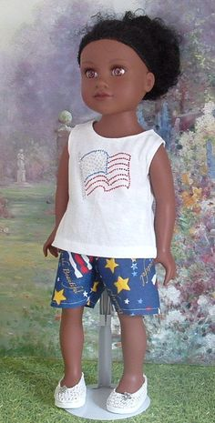 Fourth of July Short Set for American Girl by MyGirlClothingCo, $10.00