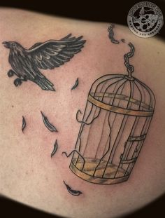 The idea of the bird breaking free and the cage actually looking broken is kind of cool