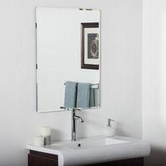 Andover Mills Frameless Wall Mirror