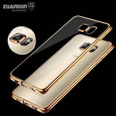 2.39$  Buy here - For Samsung Galaxy A5 Case A3 A7 2017 Plating Transparent Soft TPU Silicon Case For Galaxy S7 Edge S5 S6 Edge Clear Cover Capa   #shopstyle