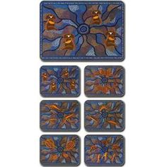 Aboriginal Designs Tribal Totems placemats and coasters, set of 6