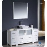 """Found it at Wayfair - Torino 60"""" Modern Bathroom Vanity with 2 Side Cabinets and Vessel Sink"""