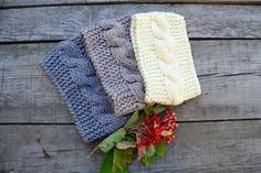 Knitted headband Knit headband Knit ear warmer by skeinofwool