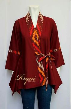Metabes - Home, Craft and Diy Simple Pakistani Dresses, Pakistani Fashion Casual, Pakistani Dress Design, Frock Fashion, Batik Fashion, Fashion Dresses, Blouse Batik, Batik Dress, Batik Blazer
