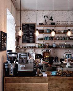 restaurant seating open shelves cafe - Zuknftige S -