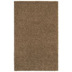 Mohawk Home Kodiak Peanut Patch Shag Rectangular Brown Transitional Tufted Area Rug (Common: 5-ft x 8-ft; Actual: 5-ft x 8-ft)