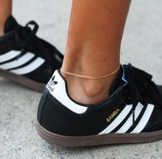 Black, Light Brown & White adidas Originals Samba Leather Classic Superstars Shoes