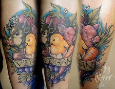 vegan tattoo                                                                               More