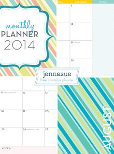My free 2014 Monthly Planner is back! Come check it out and download yours now!
